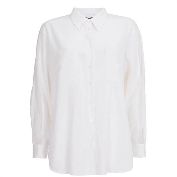 Mint Velvet White Linen Blend Shirt