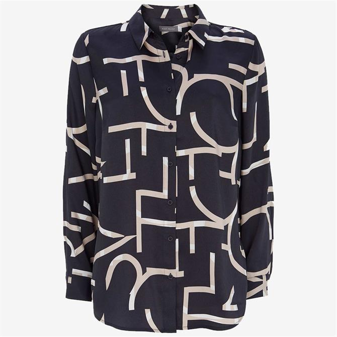 Mint Velvet Navy Libby Print Shirt