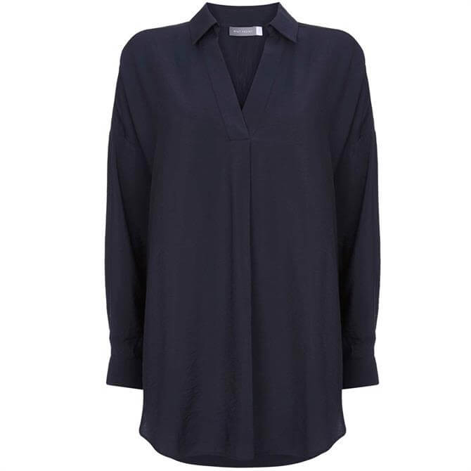 Mint Velvet Navy Oversized Shirt