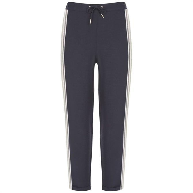Mint Velvet Navy Side Stripe Trousers