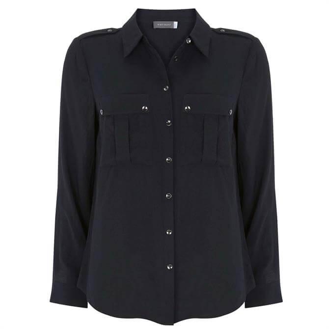 Mint Velvet Navy Utility Shirt