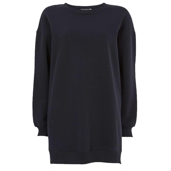 Mint Velvet Navy Long Zip Sweatshirt