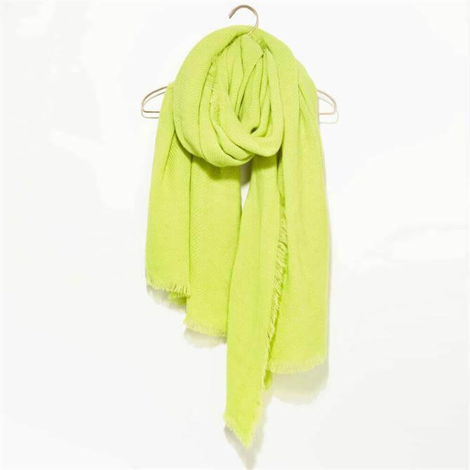 Mint Velvet Neon Yellow Textured Scarf