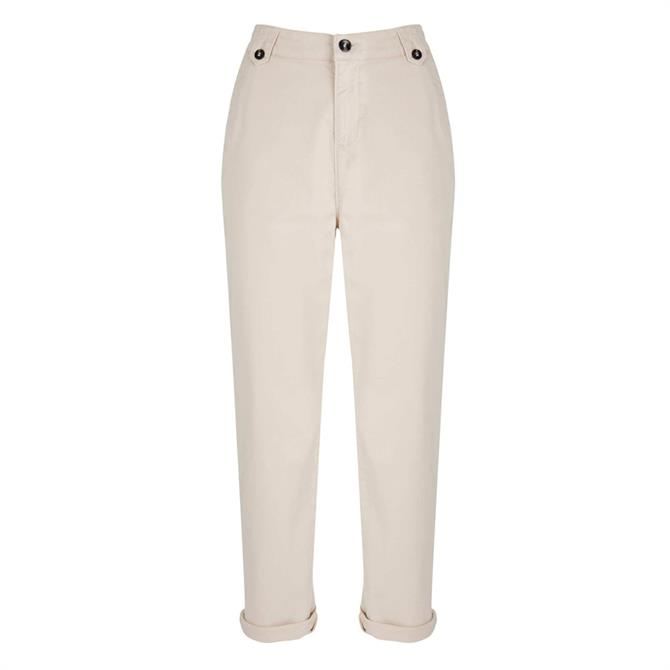Mint Velvet Neutral Button Detail Chino