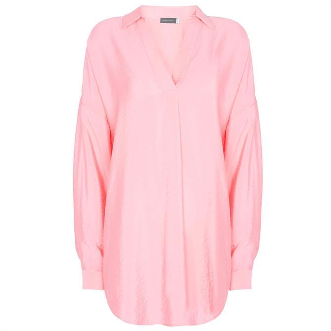 Mint Velvet Pink Oversized Shirt Top