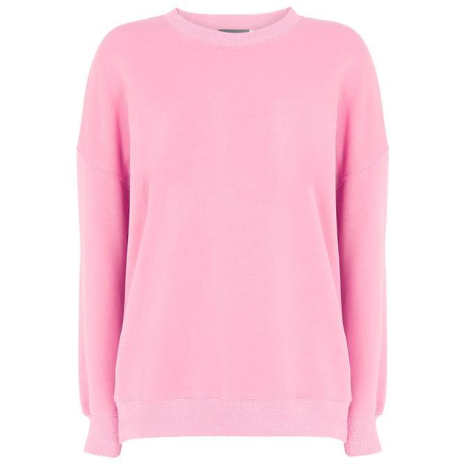 Mint Velvet Pink Side Zip Sweatshirt