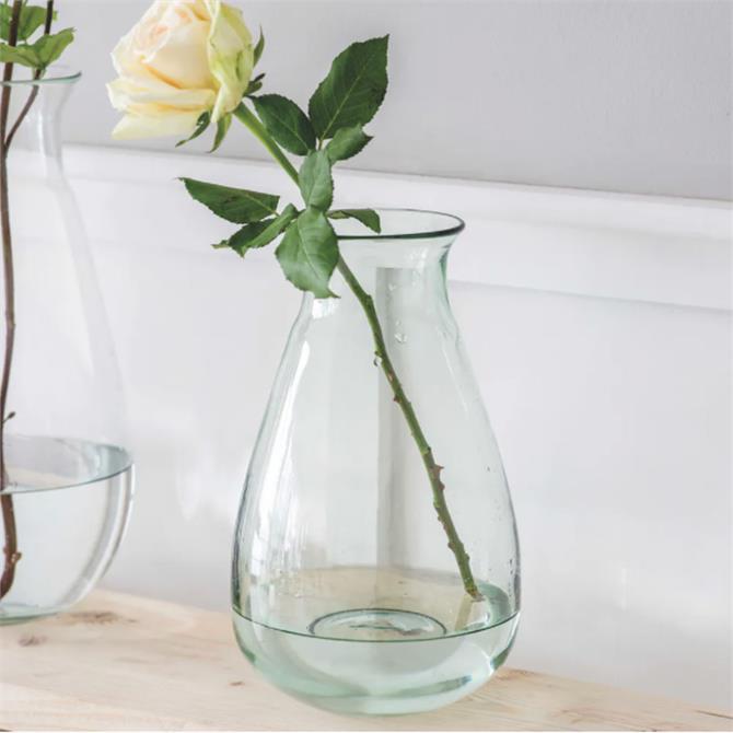 Garden Trading Quinton Recylced Glass Vase Medium
