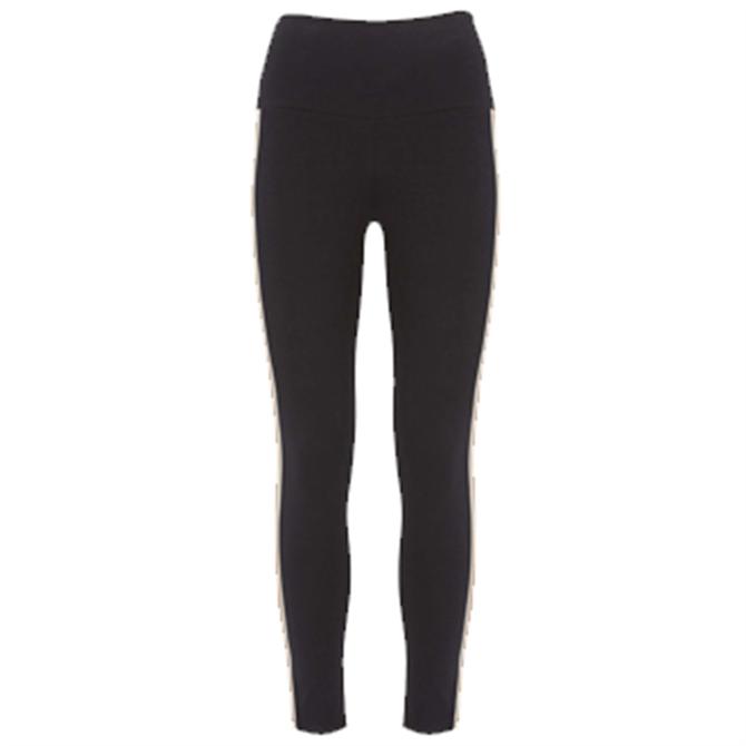 Mint Velvet Black Side Stripe Leggings