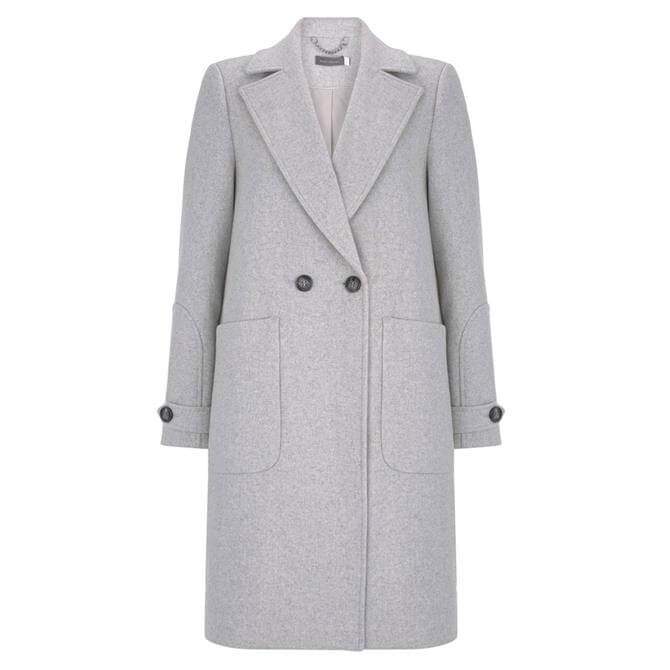 Mint Velvet Silver Grey Boyfriend Coat