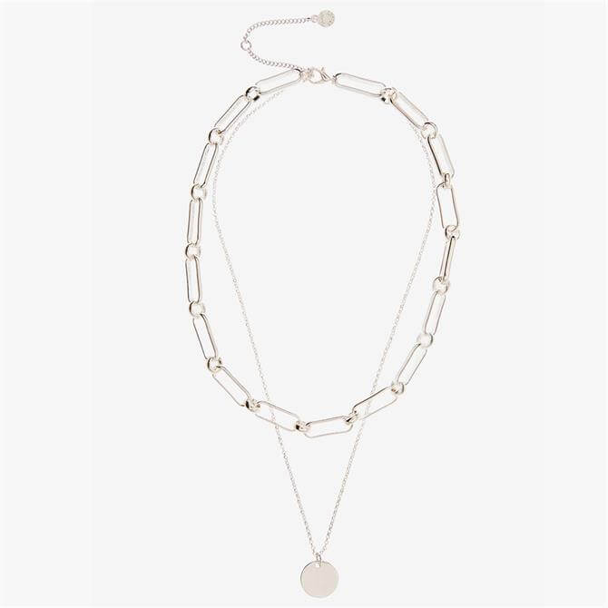 Mint Velvet Silver Layered Chain Necklace