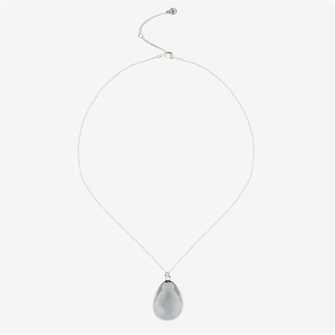 Mint Velvet Silver Hammered Short Necklace