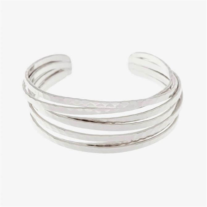 Mint Velvet Silver Stacked Bangle Bracelet