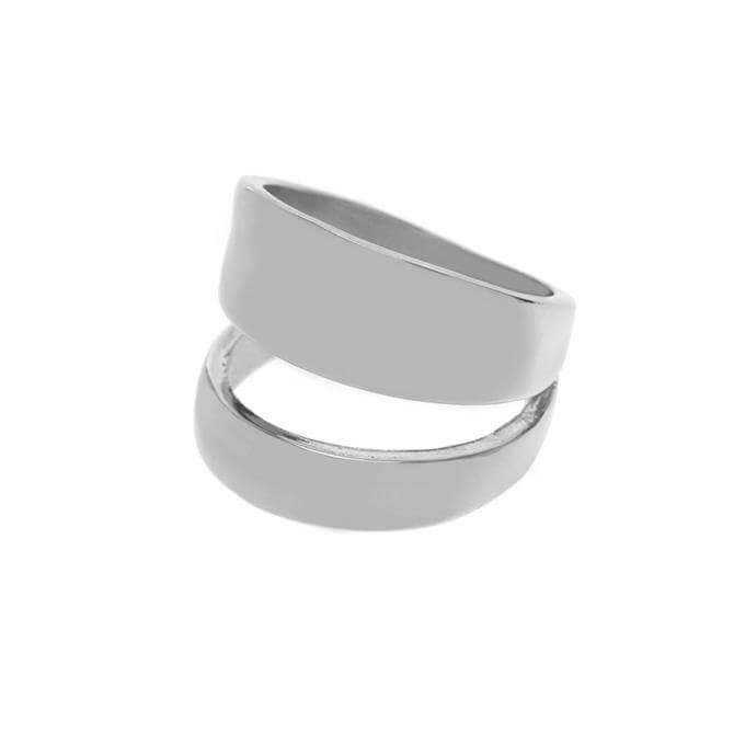 Mint Velvet Silver Tone Double Layer Ring