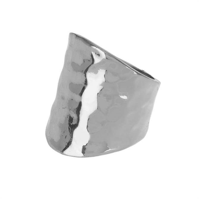 Mint Velvet Silver Tone Hammered Ring