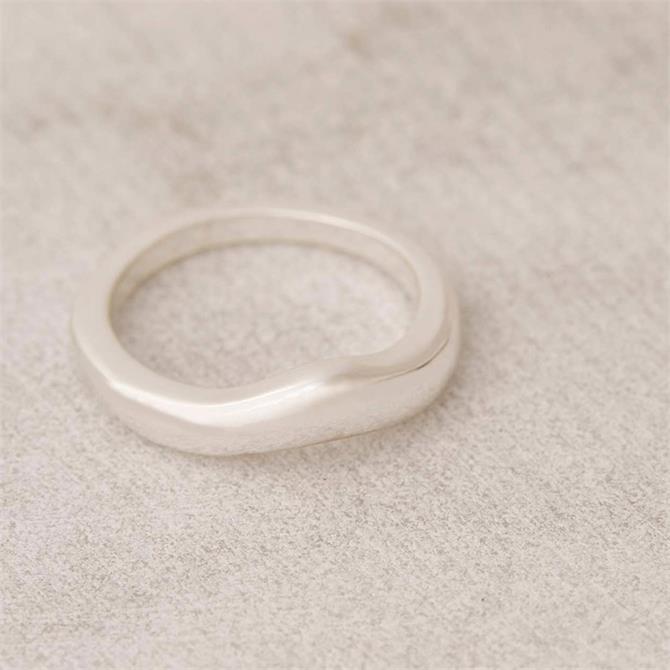 Mint Velvet Silver Tone Irregular Ring
