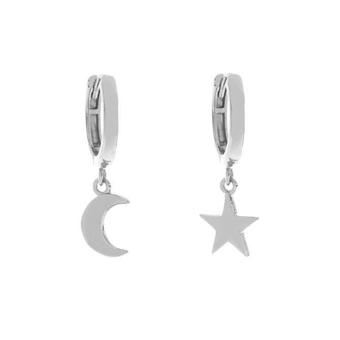 Mint Velvet Silver Star & Moon Earrings
