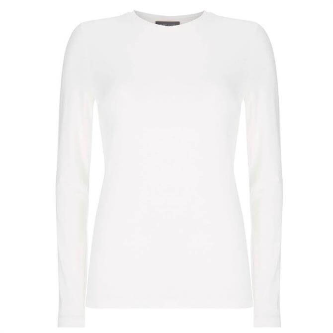 Mint Velvet White Long Sleeved T-Shirt