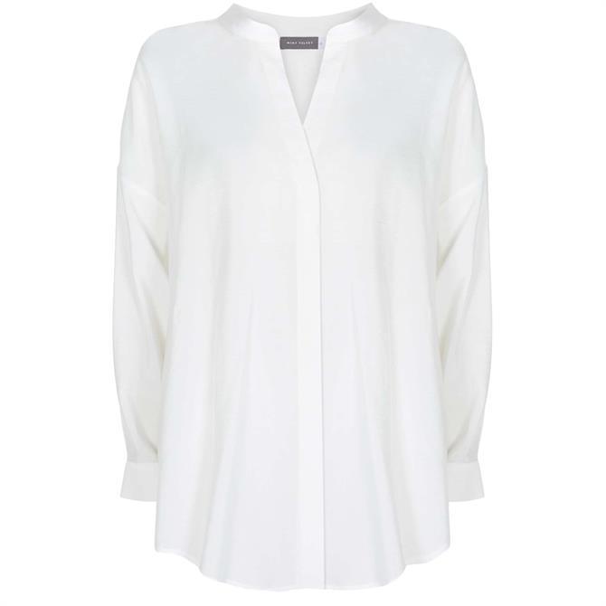 Mint Velvet White Oversized Longline Shirt