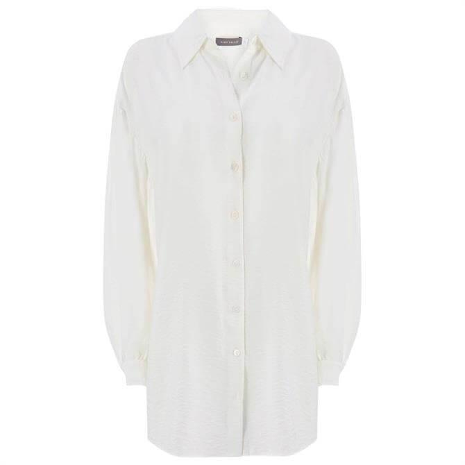 Mint Velvet Ivory Balloon Sleeve Shirt