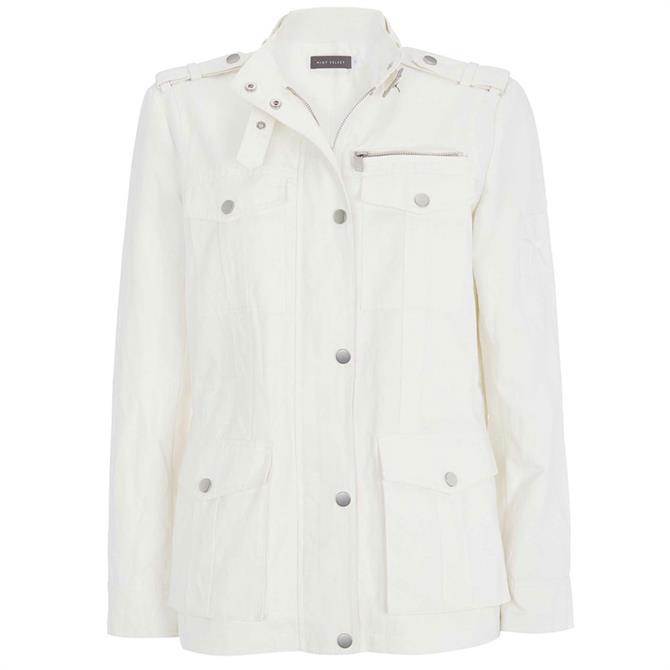 Mint Velvet White Utility Light Jacket