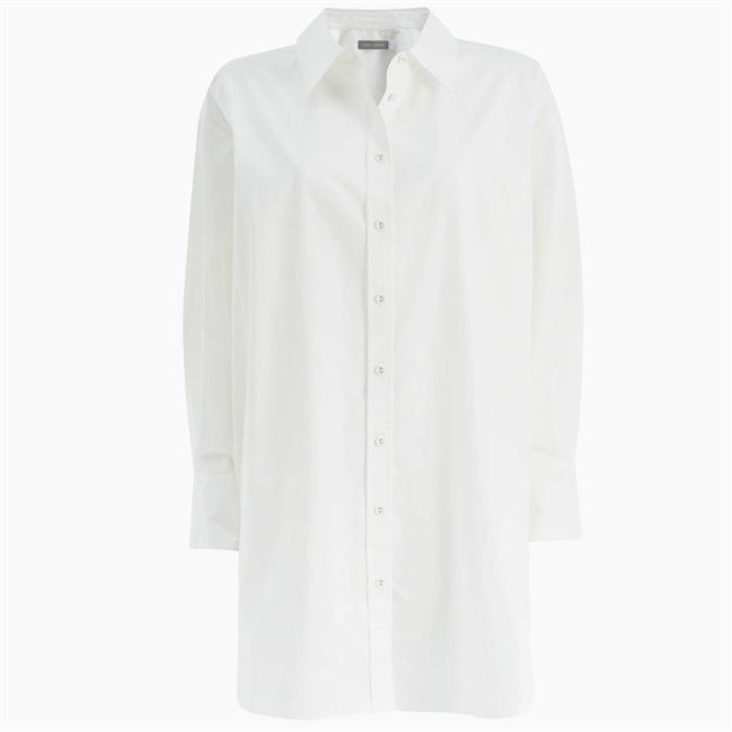 Mint Velvet White Longline Cotton Shirt