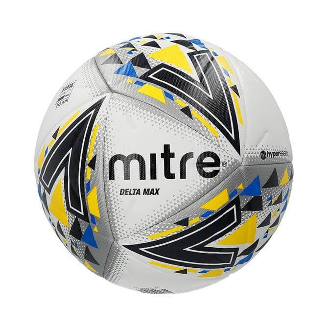 Mitre Delta FIFA Pro Quality Football- White/Black/Yellow
