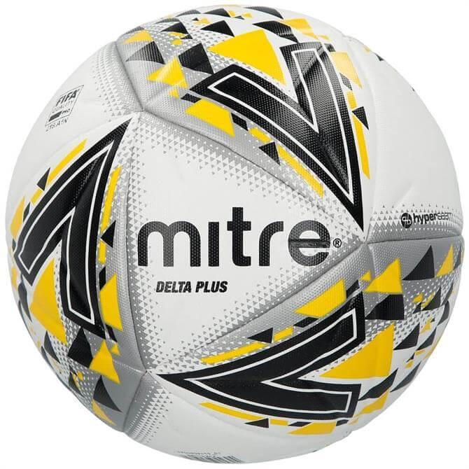 Mitre Delta Plus Football - White/Black/Yellow