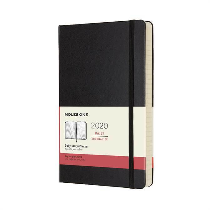 Moleskine Daily Hardcover Large Diary 2020 - Black