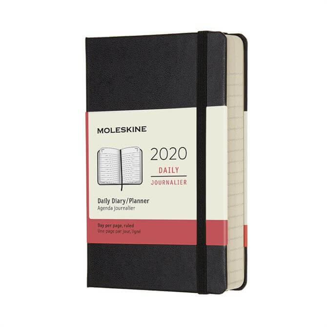 Moleskine Daily Hardcover Pocket Diary 2020 - Black