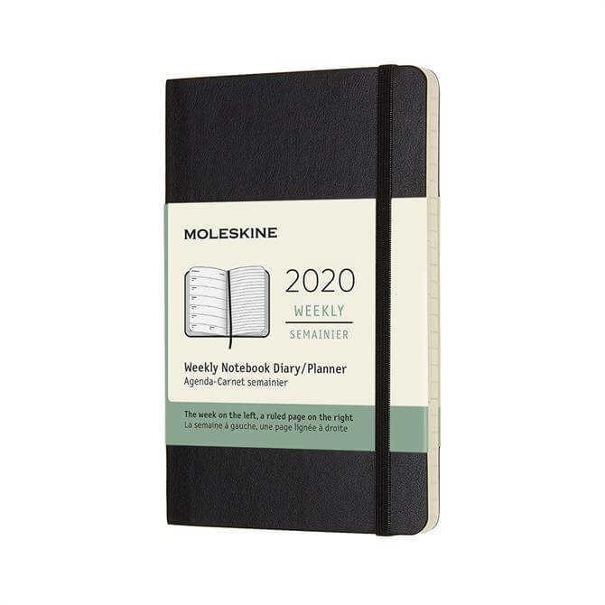 Moleskine Week to View Softcover Pocket Diary 2020 - Black