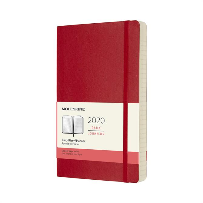 Moleskine Daily Softcover Large Diary 2020 - Scarlet Red