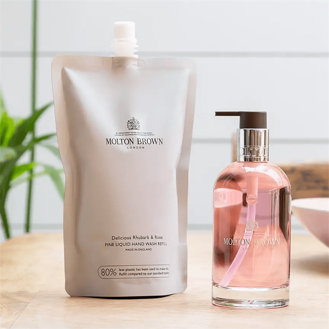 Molton Brown Rhubarb & Rose Fine Liquid Hand Wash Refill 600ml
