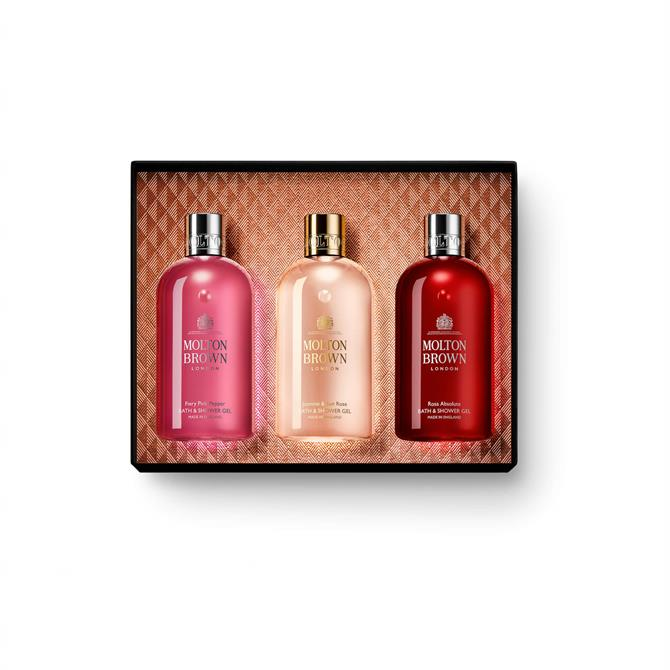 Molton Brown Floral & Chypre Christmas Bath & Shower Gel Collection x3 300ml