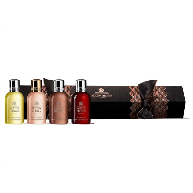 Molton Brown Christmas Floral & Chypre Bath and Shower Gel Cracker x4 50ml