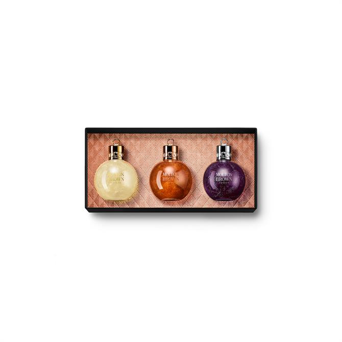 Molton Brown Festive Shower Gel Bauble Collection x3 75ml