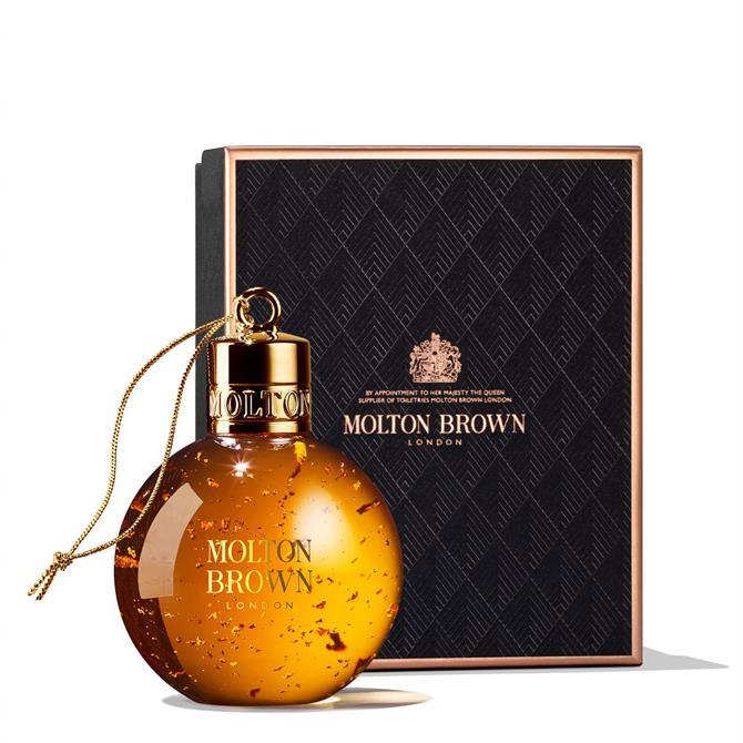 Molton Brown Mesmerising Oudh Accord & Gold Festive Shower Gel Bauble 75ml