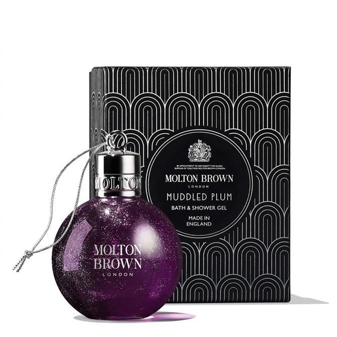 Molton Brown Muddled Plum Festive Shower Gel Bauble 75ml