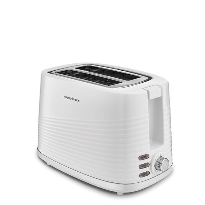 Morphy Richards Dune 2 Slice White Toaster