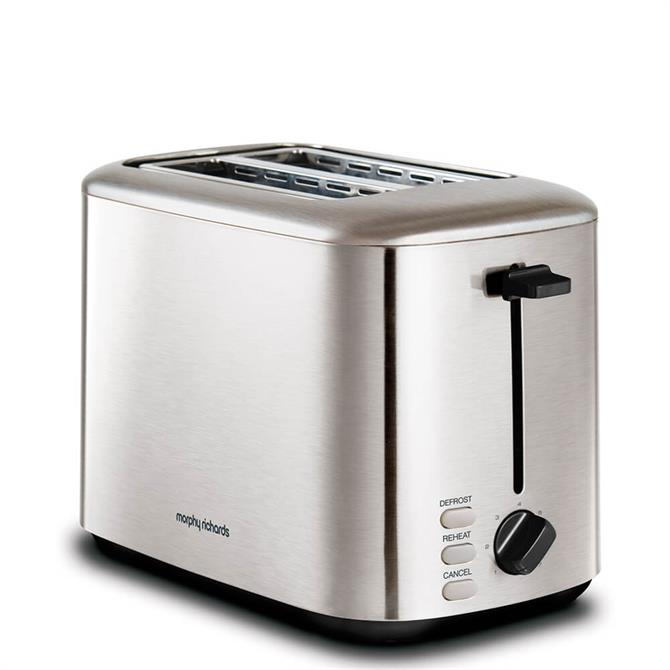 Morphy Richards Brushed Stainless Steel Equip 2 Slice Toaster