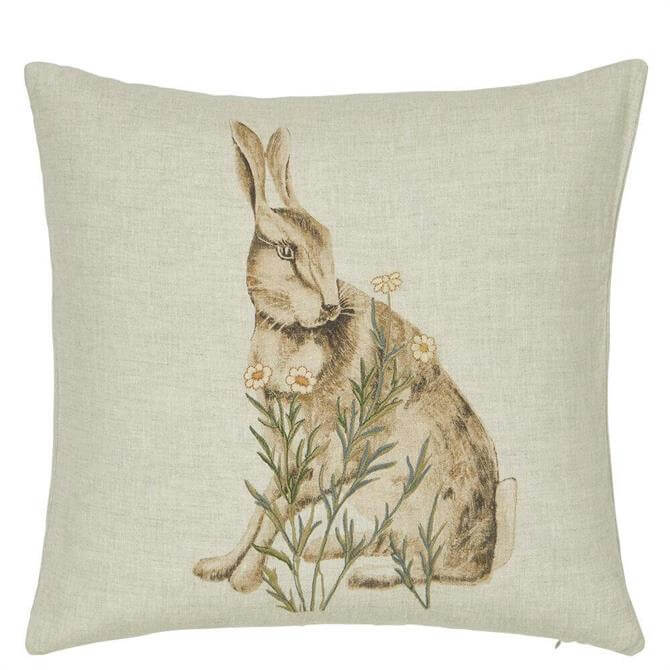 Morris & Co Little Chintz Hare Cushion