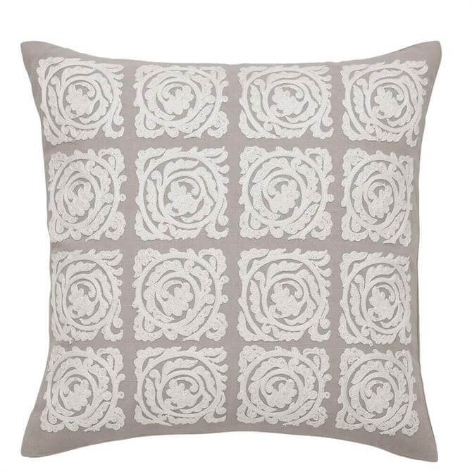 Morris & Co Pure Bachelors Button Stone & Linen Cushion
