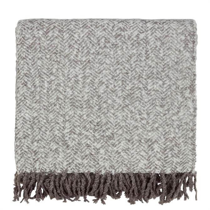 Murmur Cosy Woven Throw in Cloud Grey