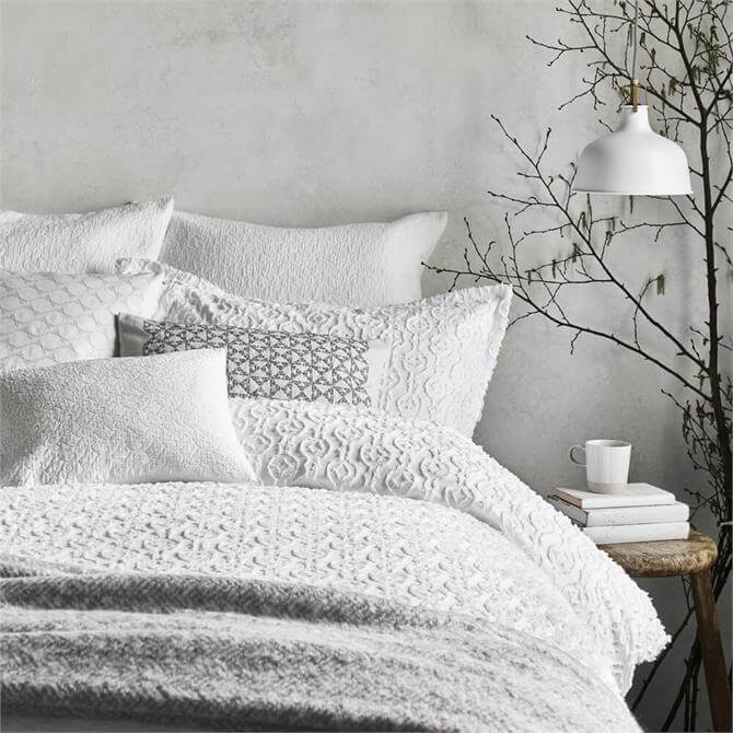 Murmur Nara Duvet Cover in White
