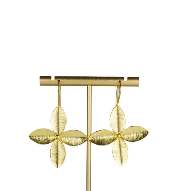 My Doris Brushed Gold Leaf Earrings
