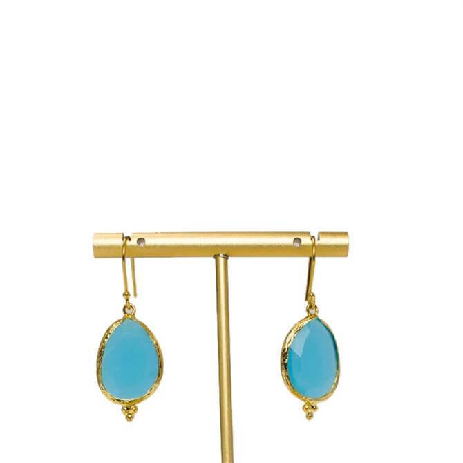 My Doris Single Drop Turquoise Earrings