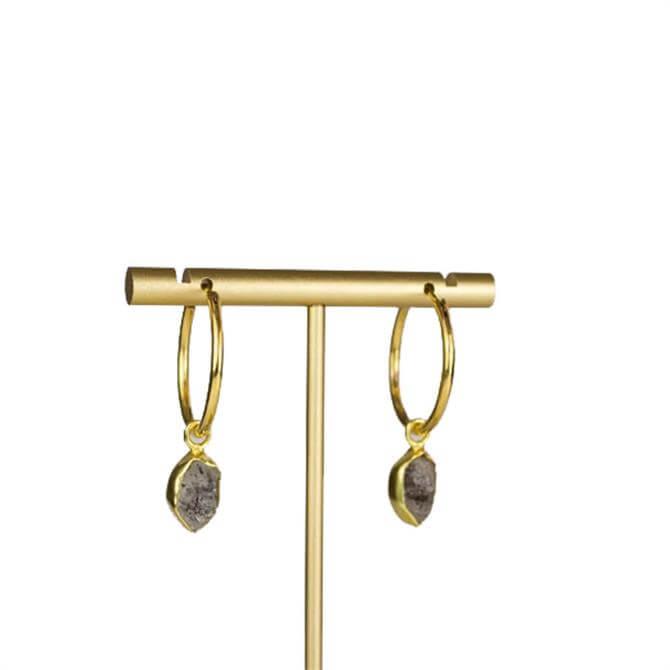 My Doris Herkimer Drop Hoop Earrings