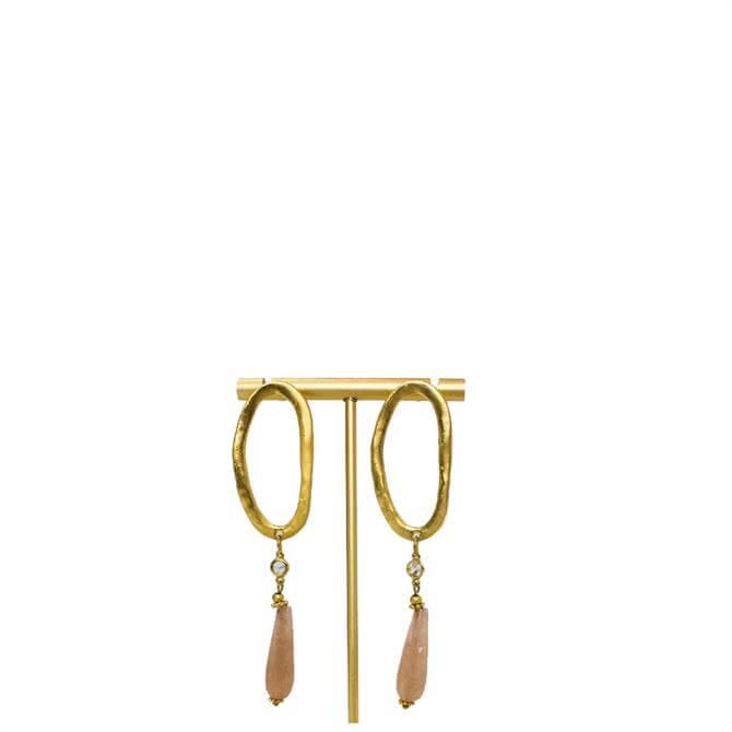 My Doris Oval Long Drop Earrings