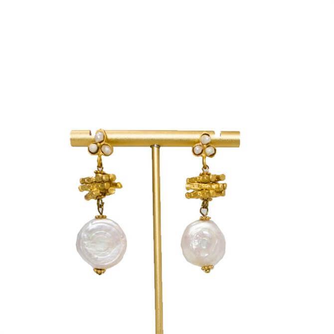 My Doris Pearl Stick Earrings
