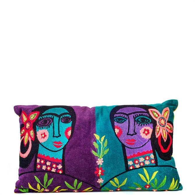 My Doris Gaugin Faces Cushion