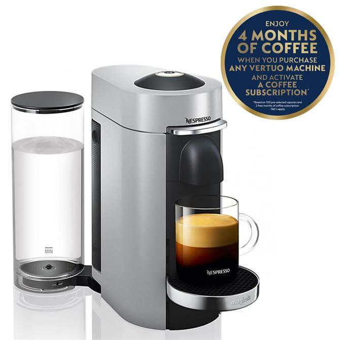 Magimix Nespresso  Vertuo Plus Coffee Machine: Silver